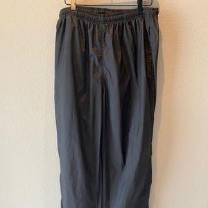 Nike Black 100% Nylon Track Pants Unisex